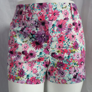 MULTICOLOR FLORAL PRINT DRESS SIGNATURE SHORTS